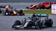 GP Eifel 2020, Nurburgring: Lewis Hamilton (Mercedes) e Max Verstappen (Red Bull)