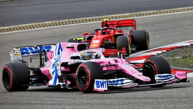 GP Eifel 2020, Nurburgring: Nico Hulkenberg (Racing Point) e Charles Leclerc (Ferrari)