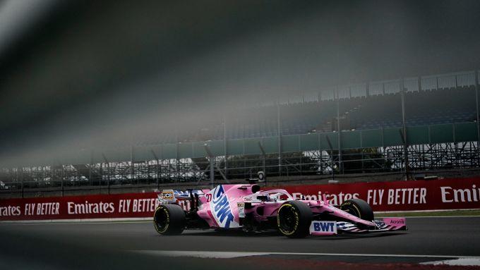 GP F1 70 2020, Silverstone: Nico Hulkenberg alla guida della Racing Point