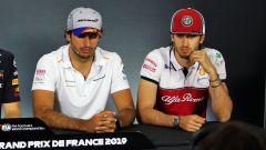 GP Francia 2019, Le Castellet: Carlos Sainz (McLaren) e Antonio Giovinazzi (Alfa Romeo Racing)
