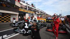 GP Francia 2019, le vetture di Hamilton, Bottas e Leclerc sotto il podio