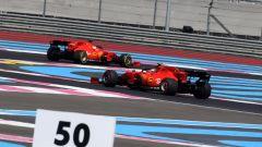 GP Francia 2019, Sebastian Vettel e Charles Leclerc (Ferrari)