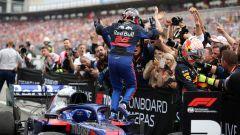 GP Germania 2019, Daniil Kvyat (Toro Rosso) festeggia la terza piazza