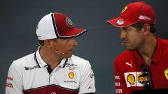 GP Germania 2019, Hockenheim: Kimi Raikkonen (Alfa Romeo) e Sebastian Vettel (Ferrari)