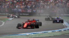 GP Germania 2019, il rimontante Sebastian Vettel (Ferrari)