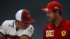 GP Germania 2019, Sebastian Vettel (Ferrari) e Kimi Raikkonen (Alfa Romeo)