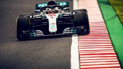 GP Giappone 2018, FP3 Suzuka, Lewis Hamilton in azione con la sua Mercedes