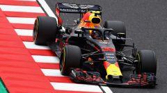 GP Giappone 2018, FP3 Suzuka, Max Verstappen in azione con la sua Red Bull