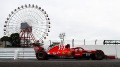 GP Giappone 2018, Kimi Raikkonen impegnato in pista con la sua Ferrari