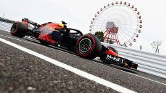 GP Giappone 2018, Max Verstappen in pitlane con la sua Red Bull