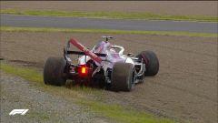 GP Giappone 2018, Qualifiche Suzuka, Marcus Ericsson va a sbattere alla Dunlop con la sua Sauber