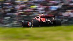 GP Giappone 2018, Qualifiche Suzuka, Sebastian Vettel in azione con la sua Ferrari