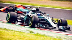 GP Giappone 2018, Qualifiche Suzuka, Valtteri Bottas in azione con la sua Mercedes