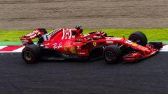 GP Giappone 2018, Sebastian Vettel  in azione con la sua Ferrari