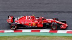 GP Giappone 2018, Suzuka, Kimi Raikkonen in azione con la sua Ferrari
