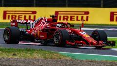 GP Giappone 2018, Suzuka, Sebastian Vettel in azione con la sua Ferrari