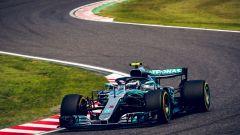 GP Giappone 2018, Suzuka, Valtteri Bottas in azione con la sua Mercedes