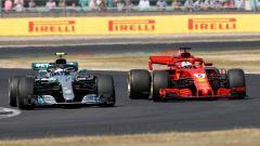 GP Gran Bretagna 2018, Bottas e Vettel in lotta