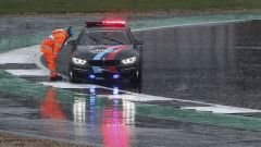 GP Gran Bretagna 2018, La Safety Car ferma in pista a Silverstone