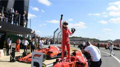 GP Gran Bretagna 2018, Vettel festeggia la vittoria