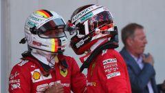 GP Gran Bretagna 2019, Charles Leclerc (Ferrari) e Sebastian Vettel