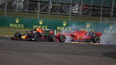 GP Gran Bretagna 2019, lo scontro tra Max Verstappen (Red Bull) e Sebastian Vettel (Ferrari)
