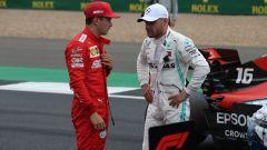 GP Gran Bretagna 2019, Silverstone, Charles Leclerc (Ferrari) e Valtteri Bottas (Mercedes)