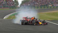 GP Gran Bretagna 2019, Silverstone, incidente tra Sebastian Vettel (Ferrari) e Max Verstappen (Red Bull)