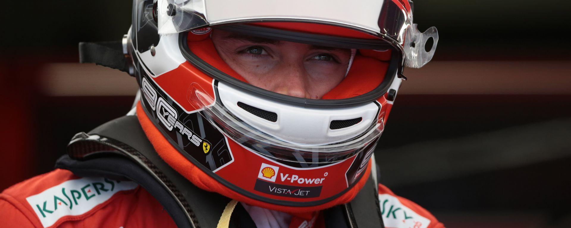 GP Gran Bretagna 2019, Silverstone, lo sguardo grintoso di Charles Leclerc (Ferrari)