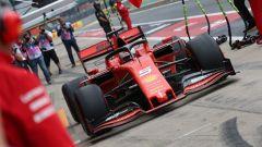 GP Gran Bretagna 2019, Silverstone, Sebastian Vettel al box Ferrari