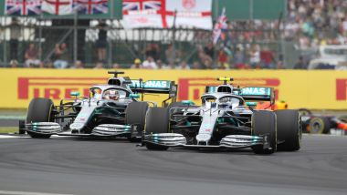 GP Gran Bretagna 2019, Silverstone, Valtteri Bottas e Lewis Hamilton (Mercedes)