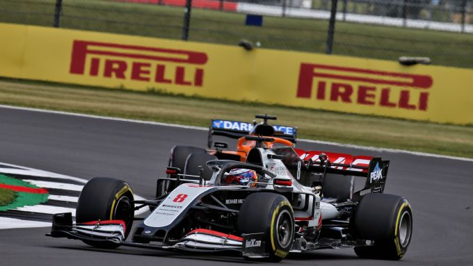 GP Gran Bretagna 2020, Silverstone: Romain Grosjean (Haas)