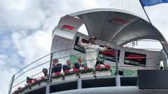 GP Italia 2018, Lewis Hamilton celebra la sua quinta vittoria a Monza