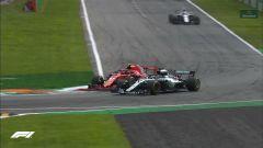 GP Italia 2018, Monza, Il sorpasso decisivo di Lewis Hamilton su Kimi Raikkonen