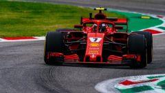 GP Italia 2018, Monza, Kimi Raikkonen in azione con la sua Ferrari