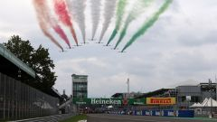 GP Italia 2018, Monza, le Frecce Tricolori alla partenza della gara