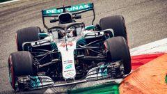 GP Italia 2018, Monza, Lewis Hamilton in azione con la sua Mercedes