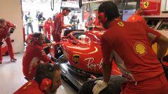 GP Italia 2018, Monza, Sebastian Vettel ai box con la sua Ferrari
