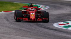 GP Italia 2018, Monza, Sebastian Vettel in azione con la sua Ferrari
