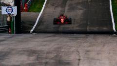 GP Italia 2018, Monza, Sebastian Vettel in rimonta con la sua Ferrari