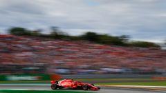 GP Italia 2018, qualifiche Monza, Kimi Raikkonen in azione con la sua Ferrari