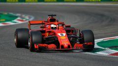 GP Italia 2018, qualifiche Monza, Sebastian Vettel in azione con la sua Ferrari
