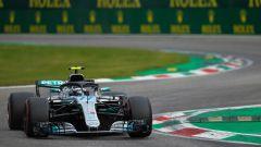 GP Italia 2018, qualifiche Monza, Valtteri Bottas in azione con la sua Mercedes