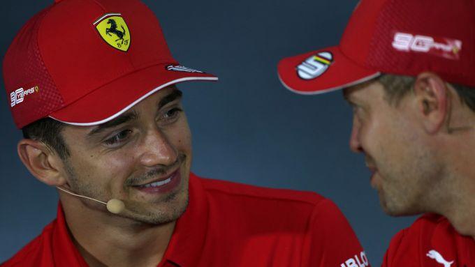 GP Italia 2019, Monza: Charles Leclerc e Sebastian Vettel (Ferrari)