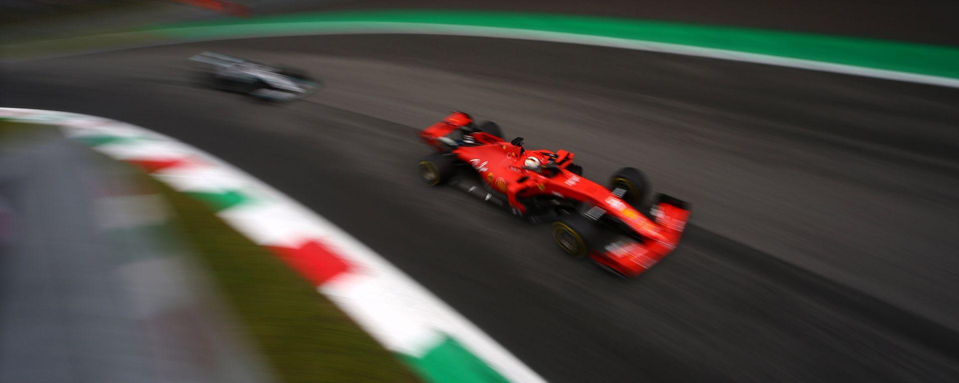 GP Italia 2019, Monza, Sebastian Vettel (Ferrari) e Lewis Hamilton (Mercedes)