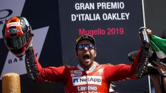 GP Italia 2019, Mugello, Danilo Petrucci (Ducati) festeggia la vittoria