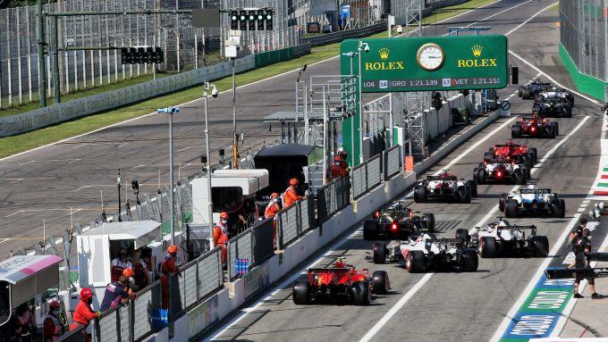 GP Italia 2020, Monza, il traffico delle qualifiche