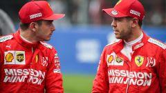 GP Messico 2019, Città del Messico: Charles Leclerc e Sebastian Vettel (Ferrari)