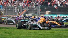 GP Messico 2019, Città del Messico Hermanos Rodriguez: la partenza con Hamilton sull'erba
