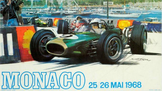 GP Monaco 1968, locandina